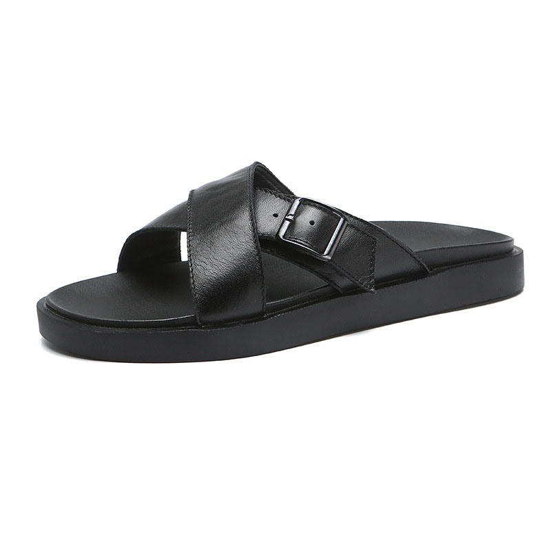 Ericdress Plain Summer Buckle Men's Slippers