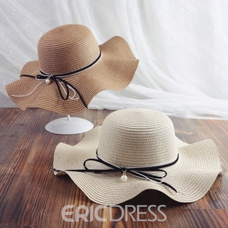 Ericdress Bowknot Casual Wave Fall Hat