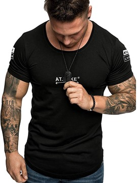 Ericdress Slim Mens T-shirt