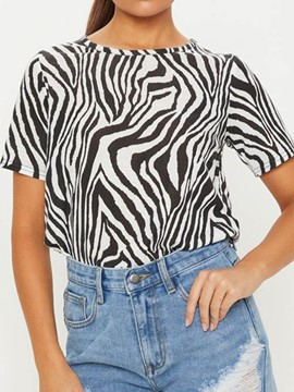 Ericdress Zebra Stripe Short Sleeve Loose Casual T-Shirt