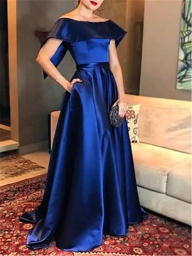 Ericdress Cap Sleeves A-Line Off-The-Shoulder Evening Dress 2019