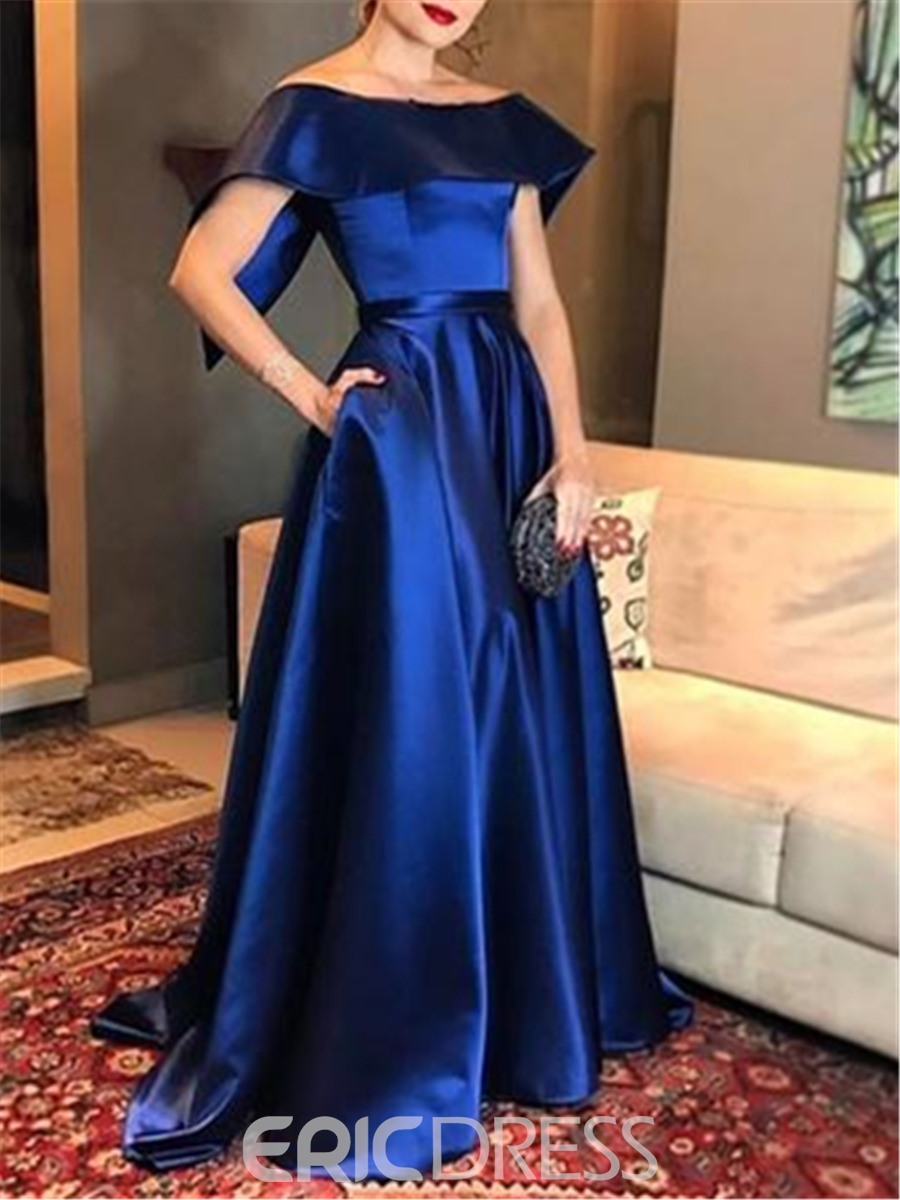 43e2a01a28 Ericdress Cap Sleeves A-Line Off-The-Shoulder Evening Dress 2019 ...