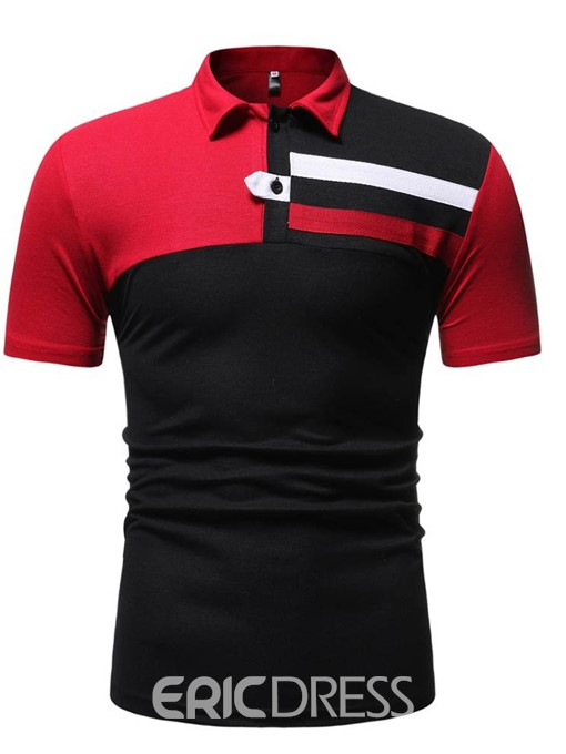 Ericdress Casual Mens Button Polo Shirt