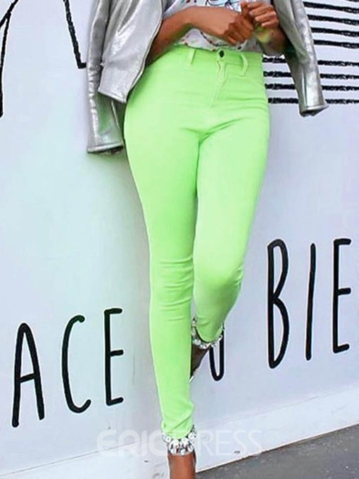 Ericdress Plain Skinny Ankle Length Casual Pants