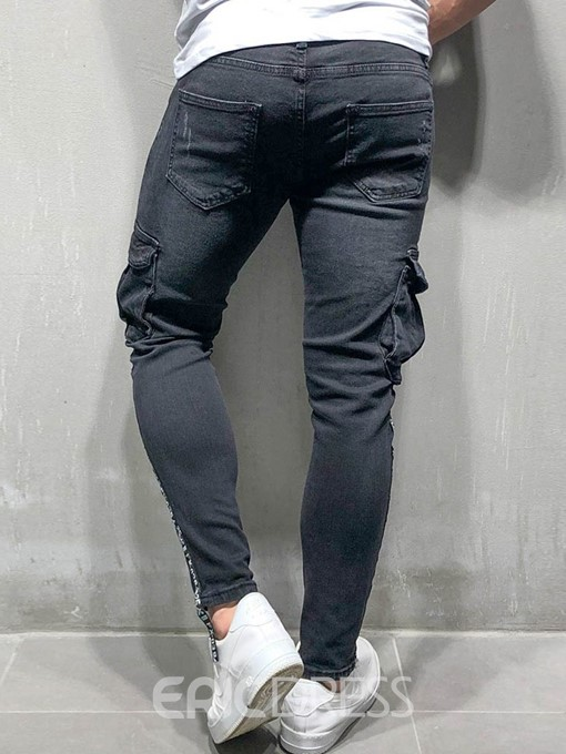 Ericdress Thin Zipper Mens Casual Pocket Jeans