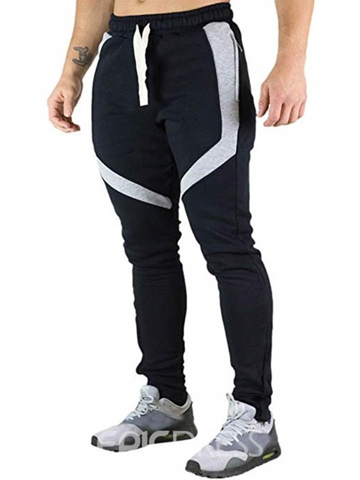 Ericdress Color Block Mens Lace-Up Casual Pants