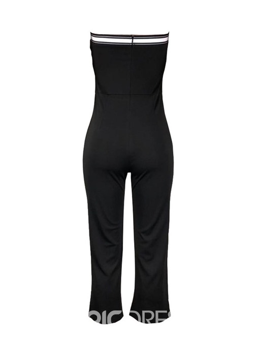 Ericdress Letter Mid-Calf Office Lady Slim Jumpsuit