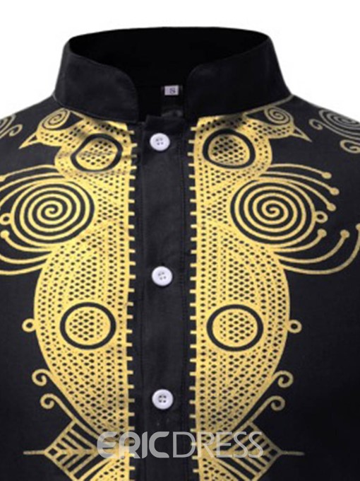 Ericdress African Fashion Dashiki Print Loose Mens Shirt