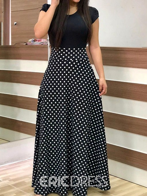 Ericdress African Fashion Floor-Length Round Neck Pullover Dress
