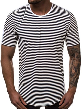 Ericdress Round Neck Casual Stripe Slim Mens Short Sleeve T-shirt