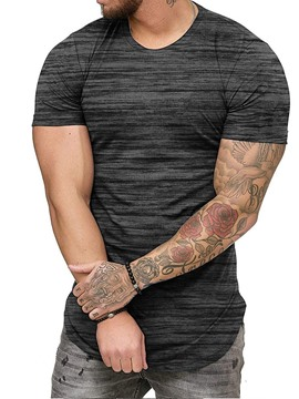 Ericdress European Round Neck Short Sleeve Mens Loose T-shirt