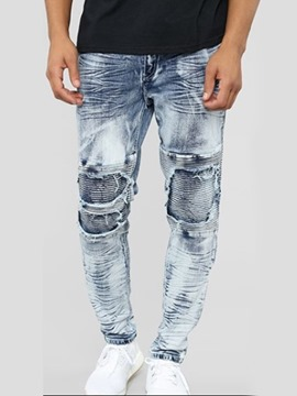 Ericdress Thin Denim Casual Mens Zipper Jeans