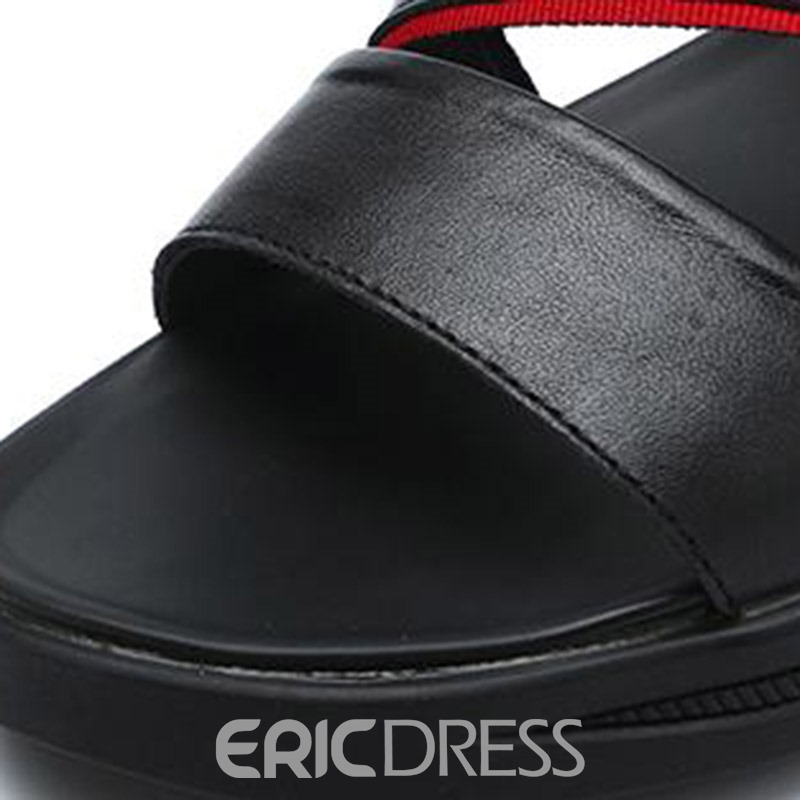 Ericdress PU Slip-On Open Toe Men's Casual Sandals