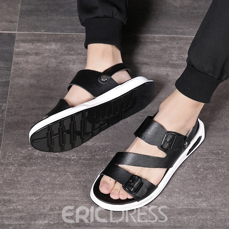 Ericdress Plain Low-Cut Upper Buckle Men's Sandals