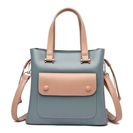 Ericdress Flap Pocket Color Block PU Handbags