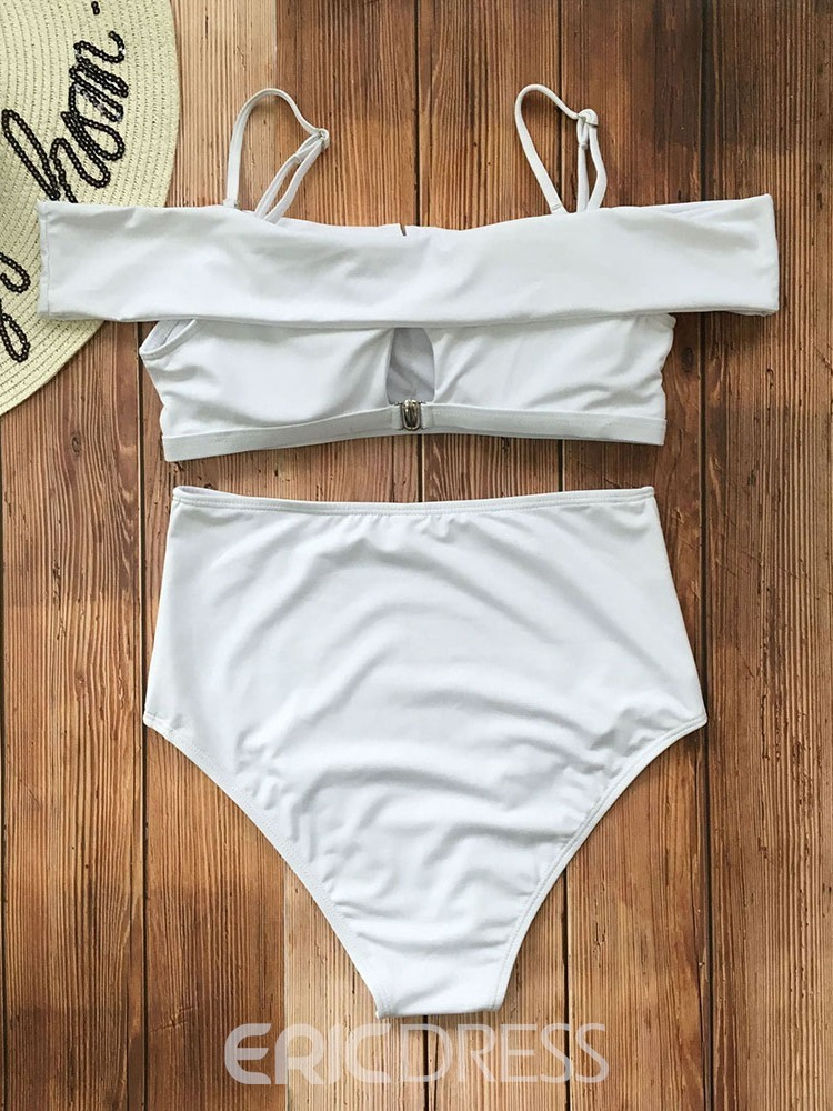 Ericdress Off Shoulder Simple Skimpy Swimwear