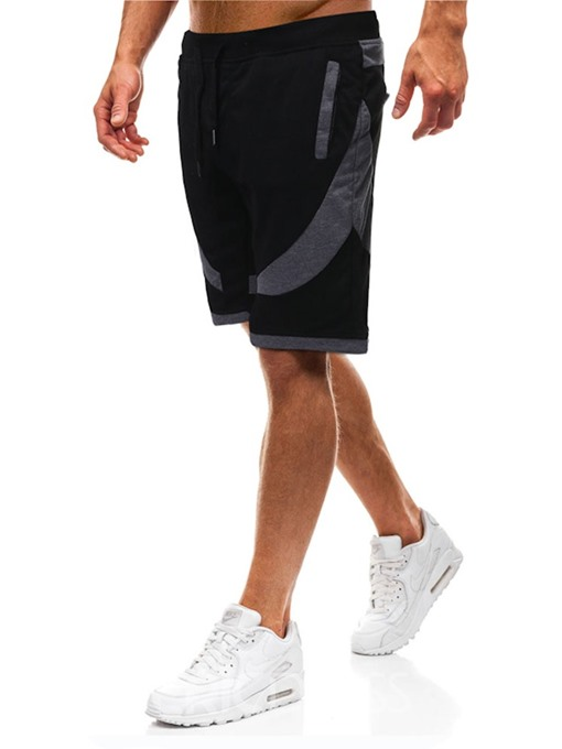 Ericdress Loose Color Block Mens Casual Lace-Up Shorts