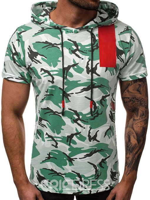 Ericdress Camouflage Print Casual Loose Mens T-shirt