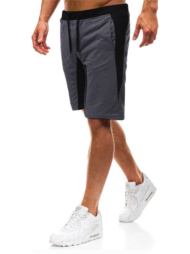 Ericdress Loose Color Block Casual Mens Lace-Up Shorts