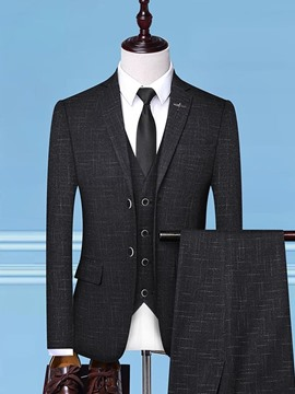 Ericdress Single-Breasted Button Plain Mens Dress Suit