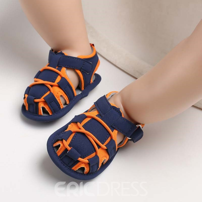 Ericdress Color Block Buckle Baby Shoes