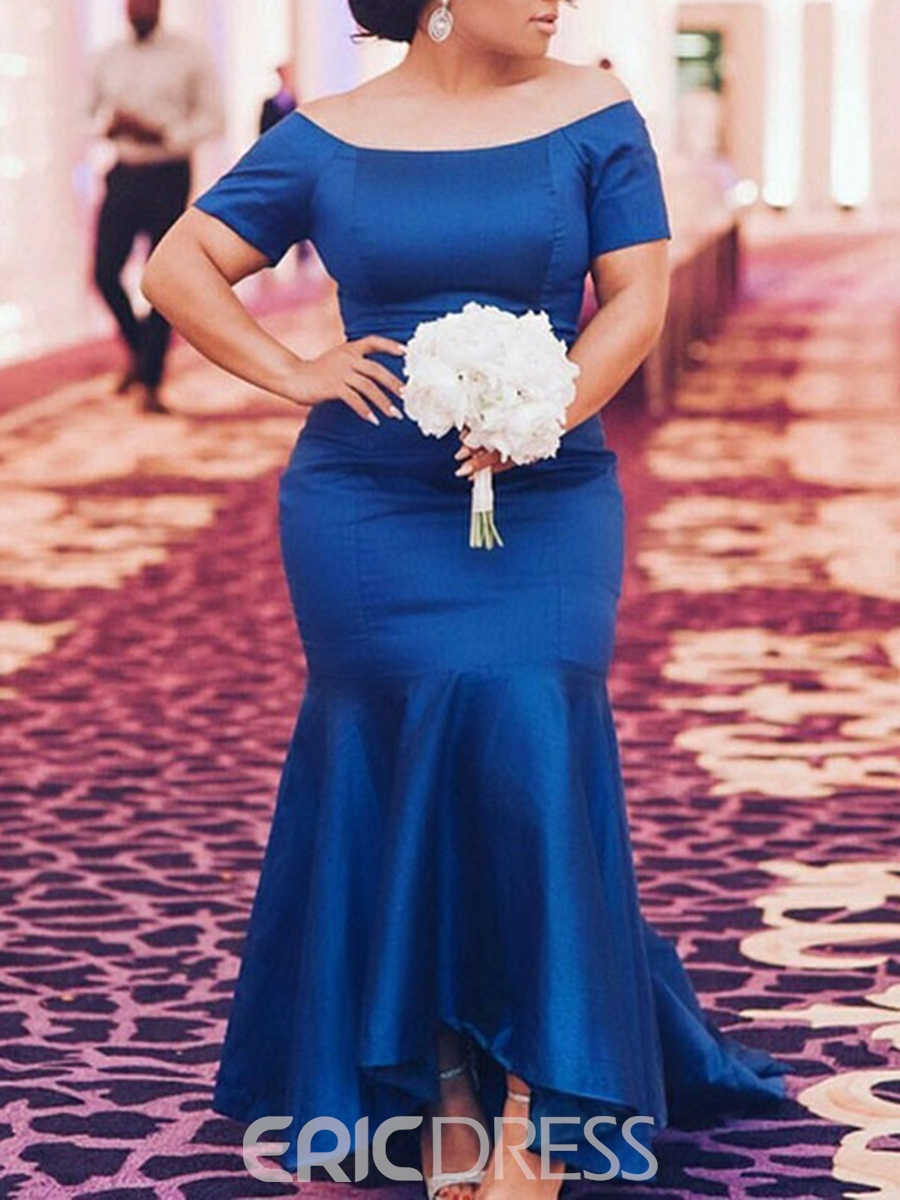 Ericdress Mermaid Off-The-Shoulder Ankle-Length Mother of the Bride Dress