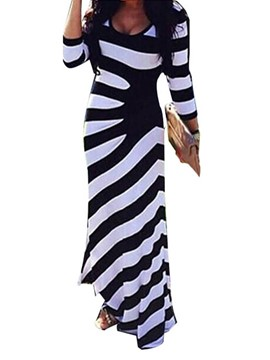 Ericdress Three-Quarter Sleeve Scoop Print Bodycon Fashion Dress
