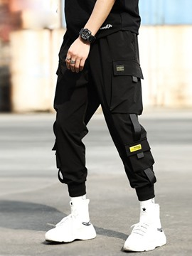 Ericdress Pocket Thin Lace-Up Mens Casual Pencil Pants