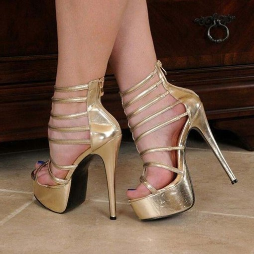 Ericdress Heel Covering Stiletto Heel Zipper Women's Prom Shoes