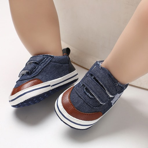 Ericdress Canvas Velcro Color Block Toddler Shoes