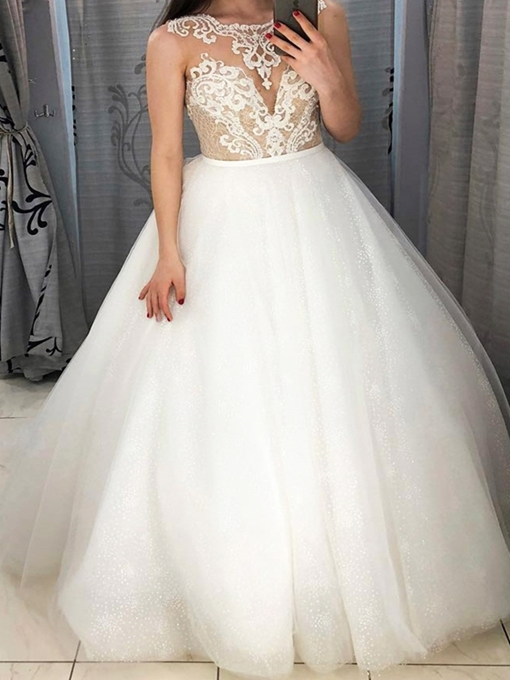 Ericdress Lace Ball Gown Wedding Dress