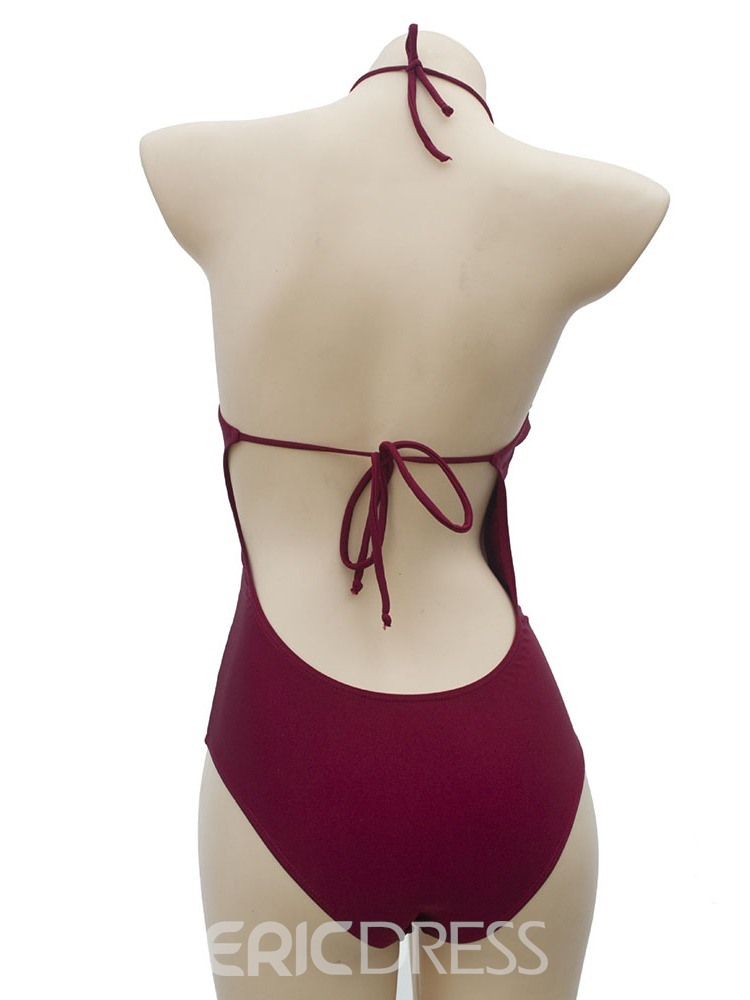 Ericdress Hollow Lace-up Sexy Swimwear