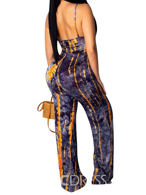 Ericdress Print Strap Sexy Skinny Jumpsuit