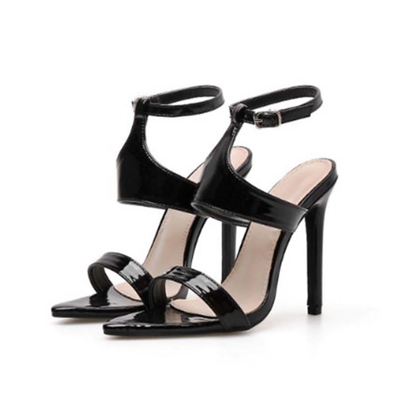 Ericdress PU Buckle Stiletto Heel Women's Chic Sandals