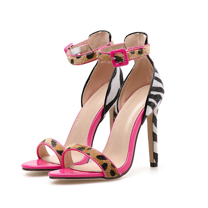 Ericdress Color Block Stiletto Heel Women's Sandals