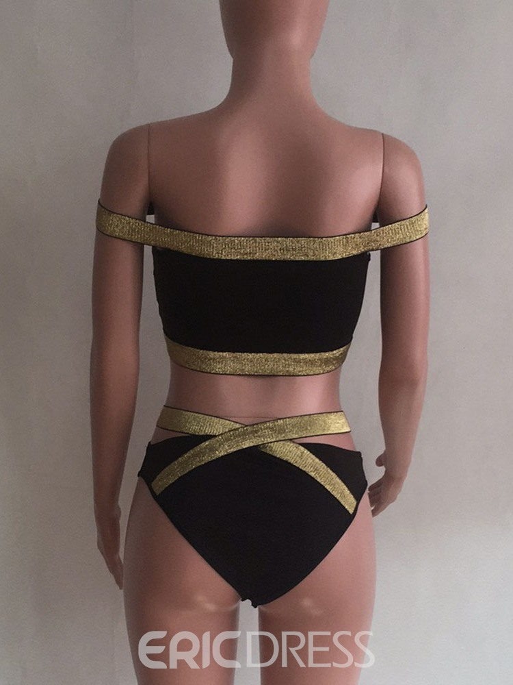 Ericdress Patchwork Zipper Skimpy Swimwear