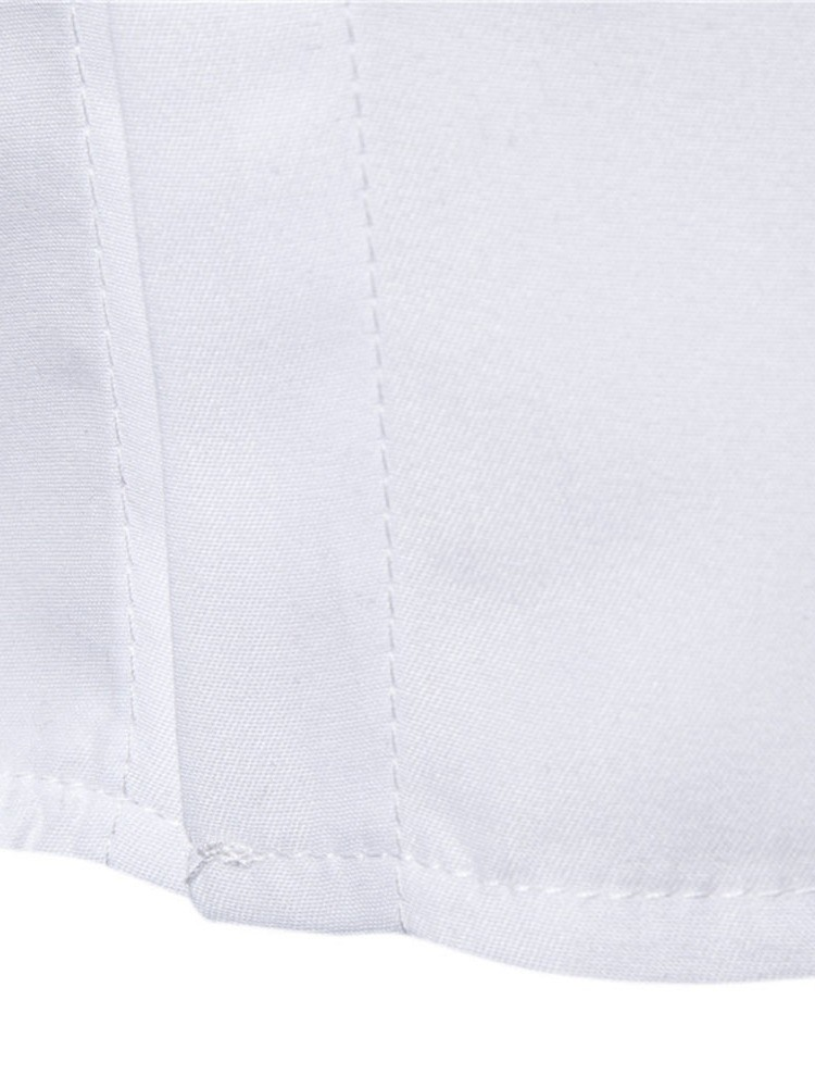 Ericdress Button Color Block Slim Mens Single-Breasted Shirt