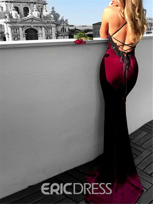 Ericdress Halter Sleeveless Mermaid Evening Dress 2019