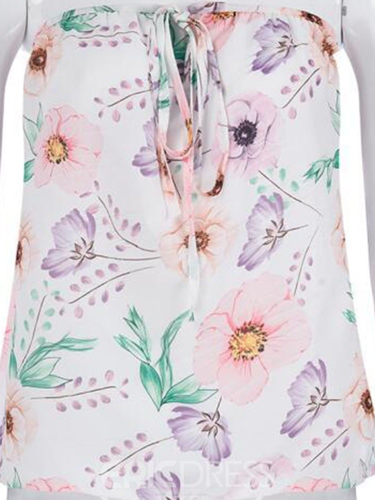 Ericdress Print Lace-up Fashion Cami Top