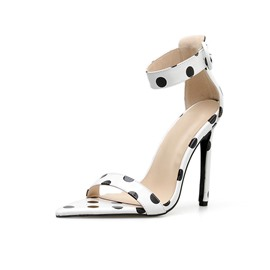 Ericdress Polka Dot Open Toe Buckle Stiletto Heel Women's Sandals