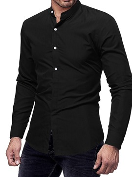 Ericdress Lapel Button Slim Mens Fall Shirt