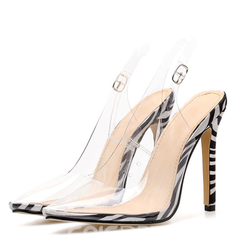 Ericdress PVC Slingback Strap Pointed Toe Women's Sandals