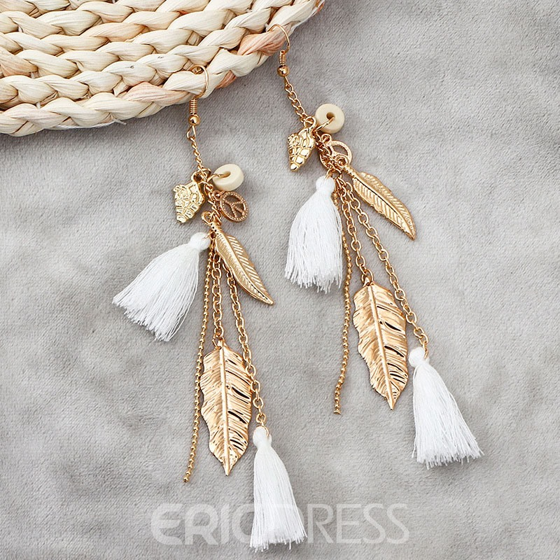 Ericdress White tassels Earrings