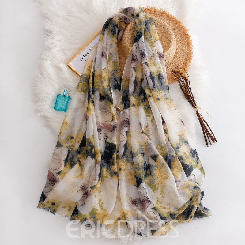 Ericdress Print Scarf Floral Scarf