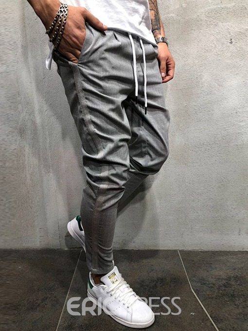 Ericdress Patchwork Pencil Zipper Casual Pants