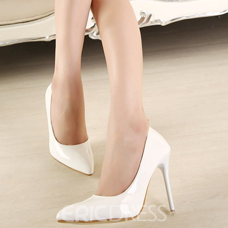 Ericdress PU Stiletto Heel Pointed Toe Women's Casual Pumps