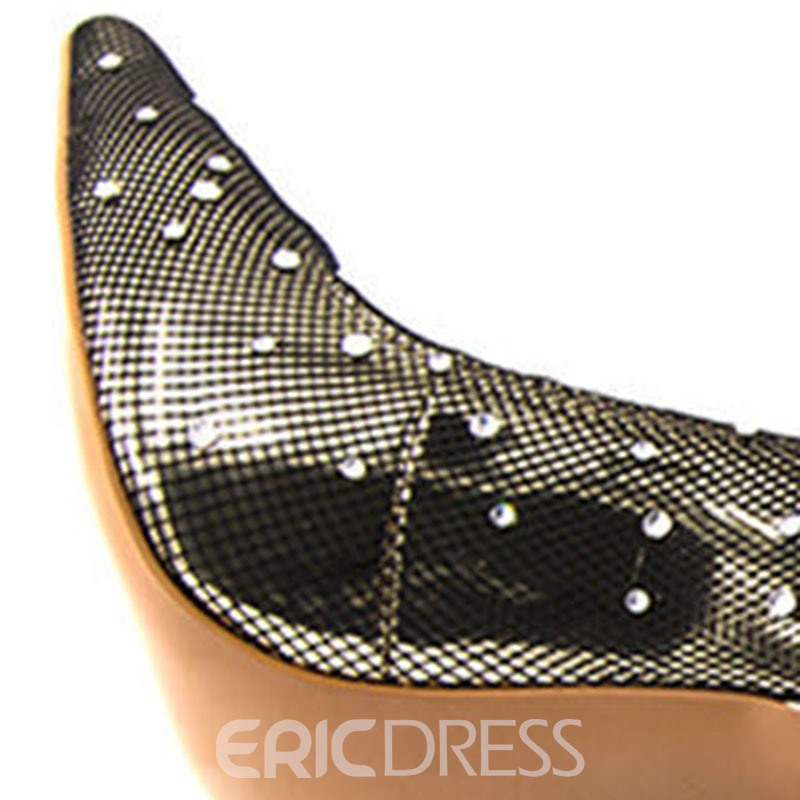 Ericdress Rhinestone Stiletto Heel Pointed Toe Slip-On Women's Ankle Boots