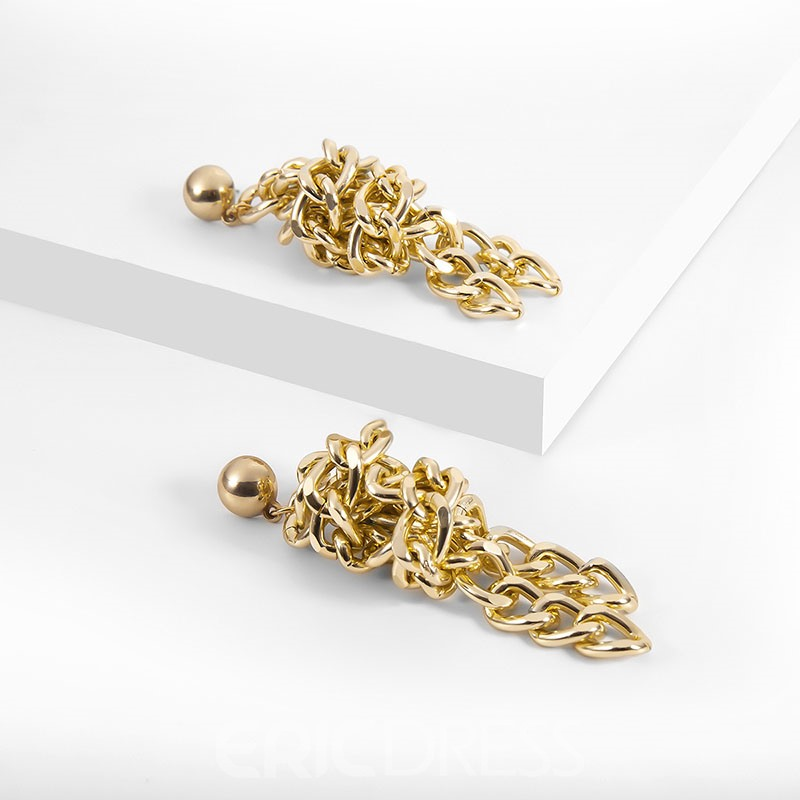 Ericdress E-Plating Plain Alloy Lock Earrings