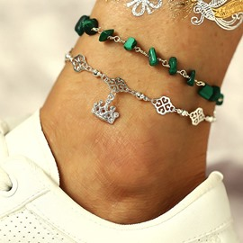 Ericdress Bohemian Turquoise Anklet