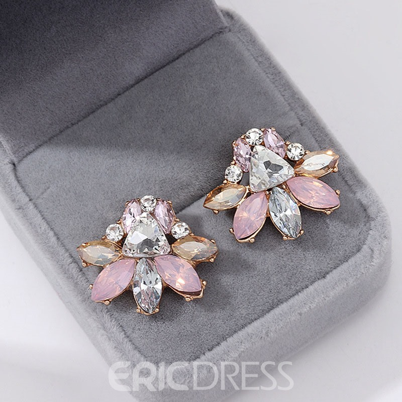 Ericdress Alloy Diamante Classic Earrings